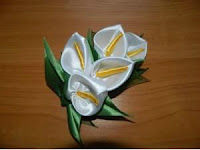 Cara Membuat Bunga Cantik Dari Pita Satin