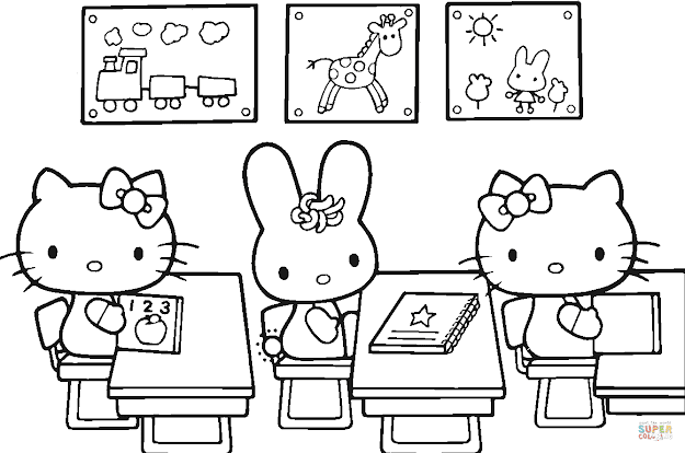 Click The Hello Kitty Back To School Coloring Pages To View Printable  Version Or Color It Online Patible With Ipad And Android Tablets