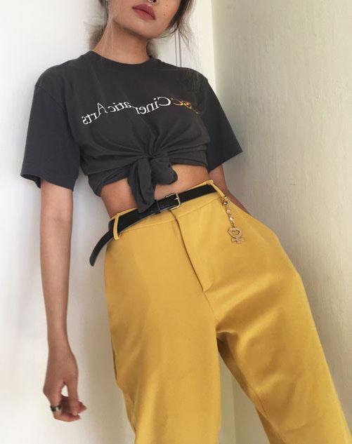 Calça Amarela Alfaiataria