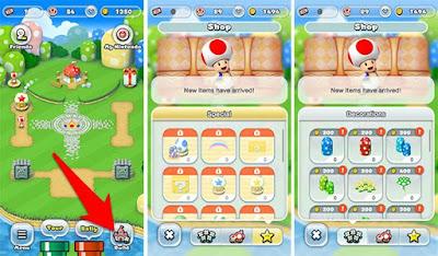 المتجر المخصص لتطوير شخصية Super Mario Run وبناء القلعة