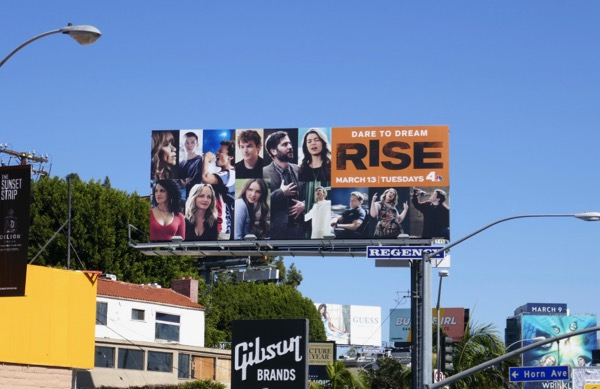 Rise NBC series billboard