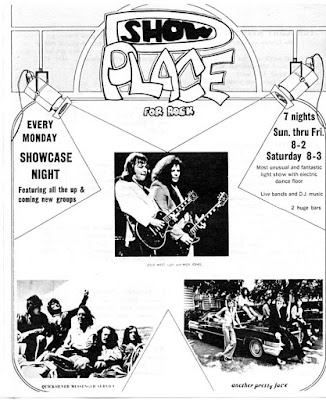 The Show Place band line up 1976