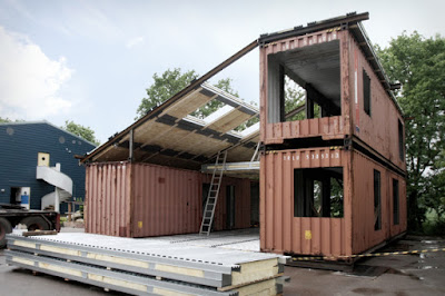 Casas construidas con contenedores marítimos