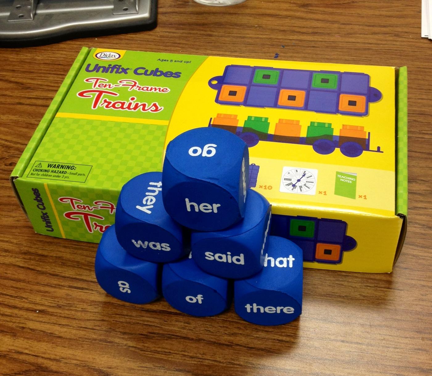 Susan Jones Teaching 10 S Frame Trains Amp Sight Word Cubes Mpm Supplies