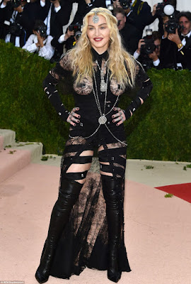 MADONNA in her risque outfit at the met gala 2016
