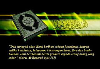 Tafsir QS Al-Baqarah:155-156 tentang Musibah (Bencana) sebagai Ujian