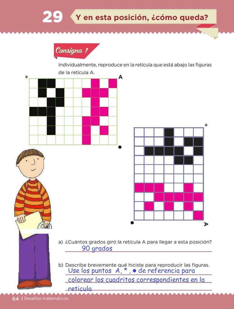 Y en esta posición, ¿cómo queda? -Desafío 29- Desafíos Matemáticos Quinto grado Contestado