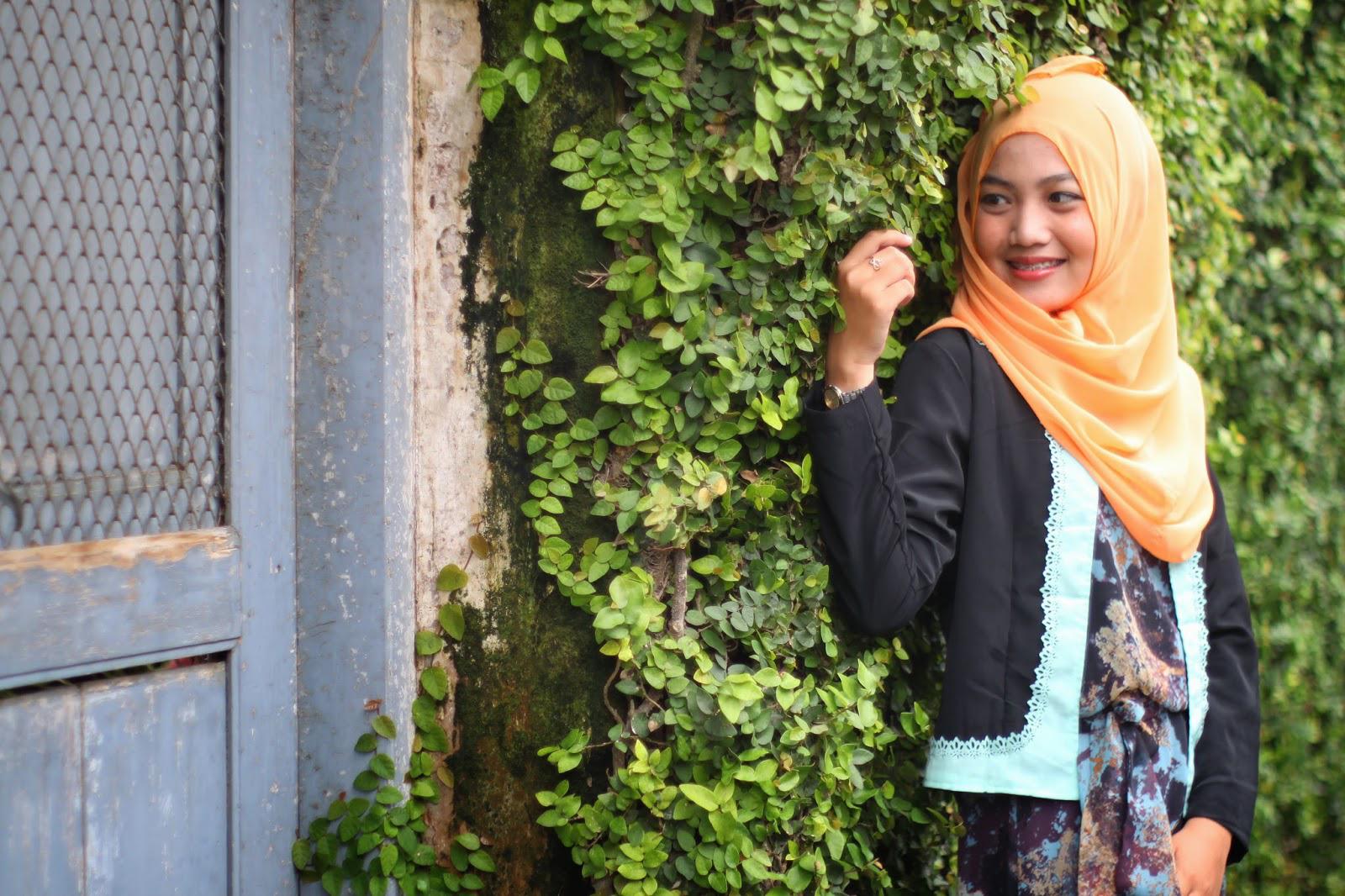 60's hijab Cewek IGO Efrida Yanti style hijab Cewek IGO Efrida Yanti tutorial 65 office look by