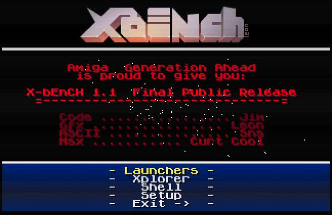 Indie Retro News: X-bEnCh 1 1 - One of the best Amiga