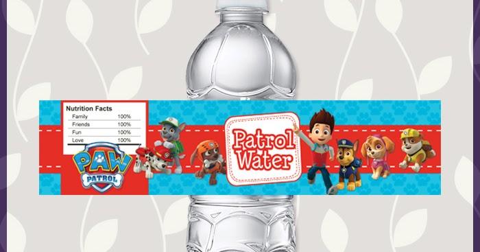 free printable paw patrol water bottle labels