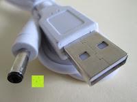 Kabel: GHB dimmbare LED Schreibtischlampe 3-Level Helligkeit 360° flexiblen Schwanenhals Tischlampe -Weiß [Energieklasse A+]