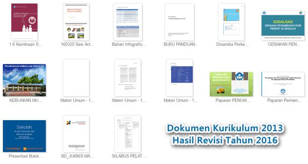 Dokumen Kurikulum 2013 Revisi Tahun 2016