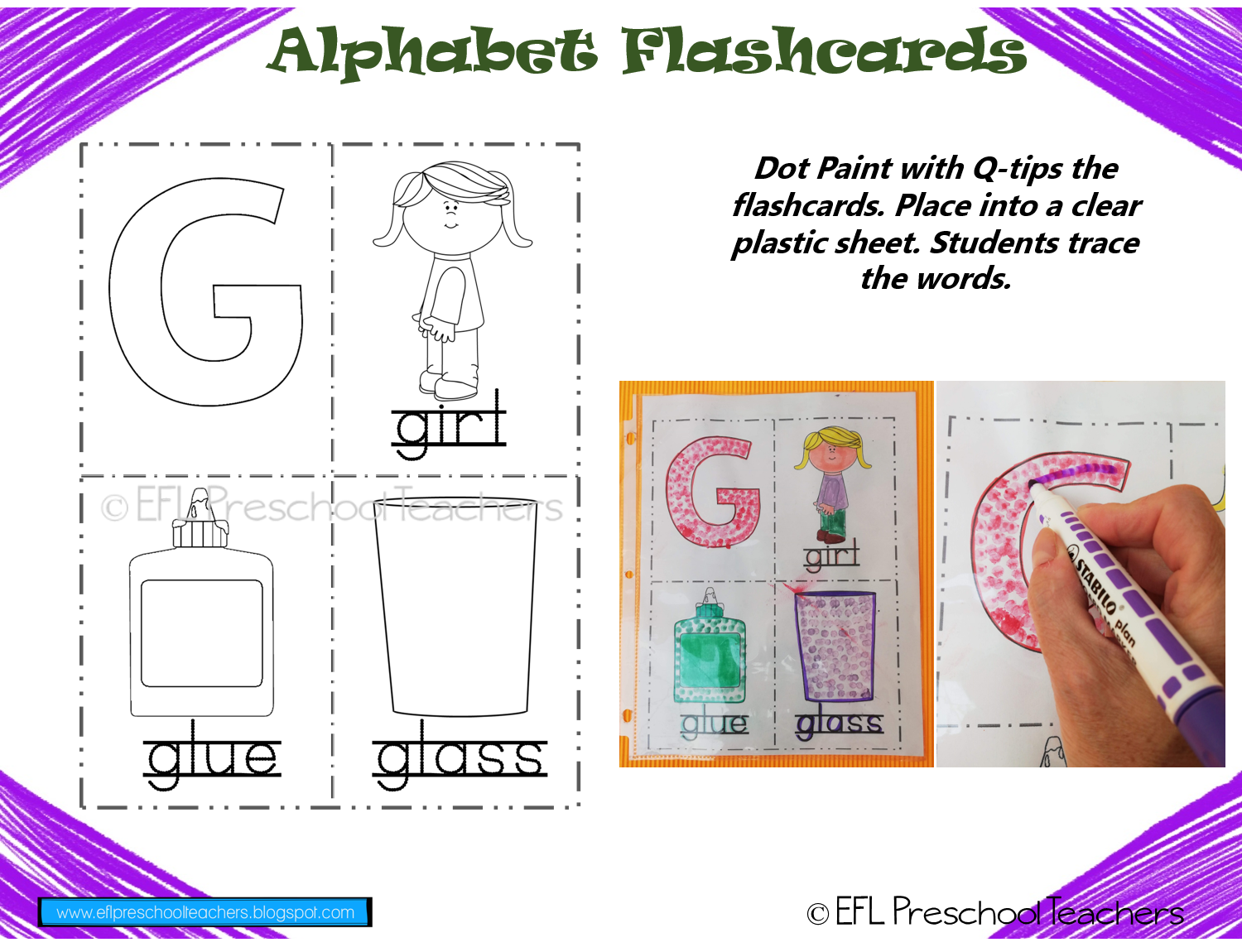 graphic regarding Create Printable Flashcards named ESL/EFL Preschool Academics: Alphabet Printable Flashcards