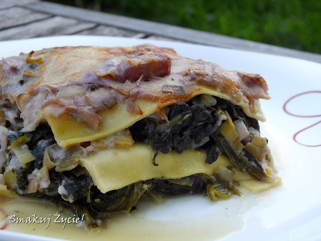 Lasagne ze szpinakiem i oszukanym beszamelem