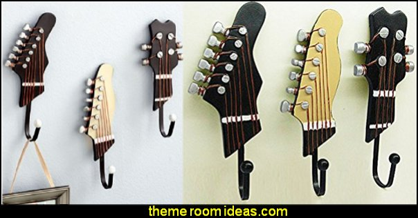 Guitar Music Themed wall hooks