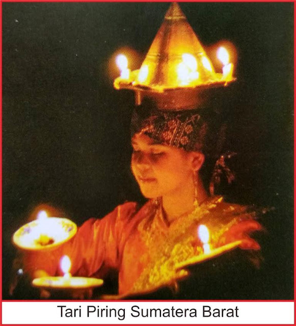kesenian tari piring sumatera barat