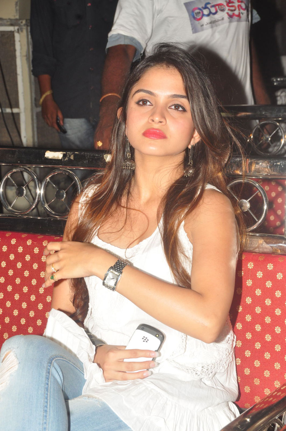 Confident hot sexy Sheena shahabadi photos at action 3d movie platinum disk event