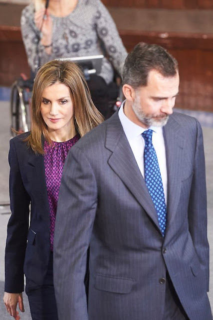 King Felipe and Queen Letizia attends the National Paraplegics Hospital 40th Anniversary