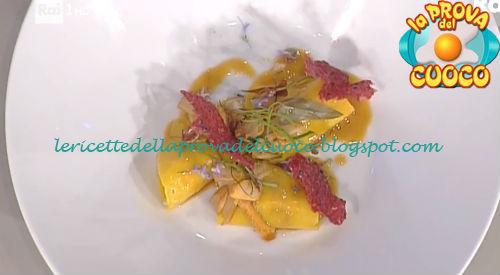 Raviolo aperto con triglie e funghi ricetta Pascucci da Prova del Cuoco