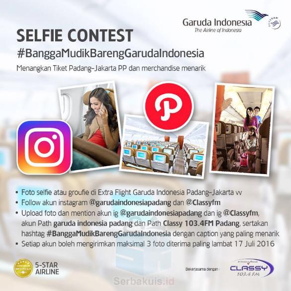 Kontes Selfie Mudik Berhadiah Tiket Pesawat Padang Jkt Pp