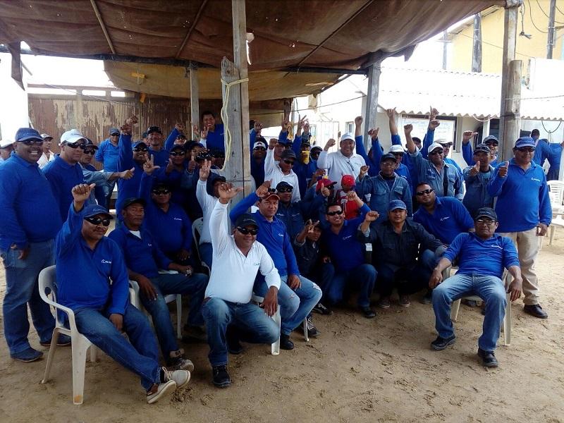 La USO acompaña la lucha de los trabajadores de Manaure