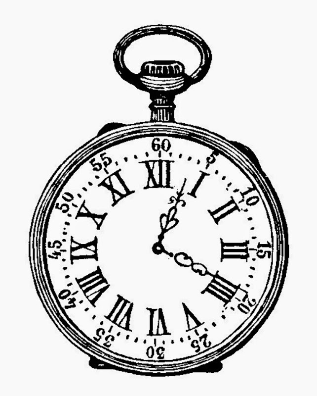 Pocket Watch Drawings: ArtzeeCCC: Pocket Watch Black And White Ink Drawing Vintage