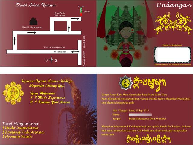 Jasa Pembuatan Kartu Undangan di Bali ~ SEVEN S CENTER
