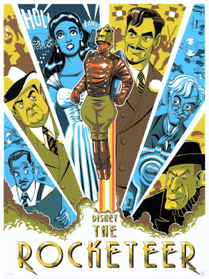 WonderCon 2019 Exclusive The Rocketeer Screen Print by James Silvani x Cyclops Print Works x Disney