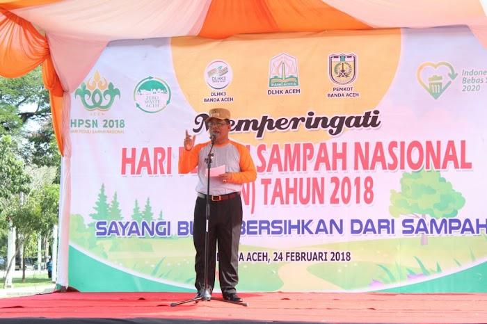 Peringati HPSN 2018, Walikota Banda Aceh Ajak Masyarakat Jaga Kebersihan