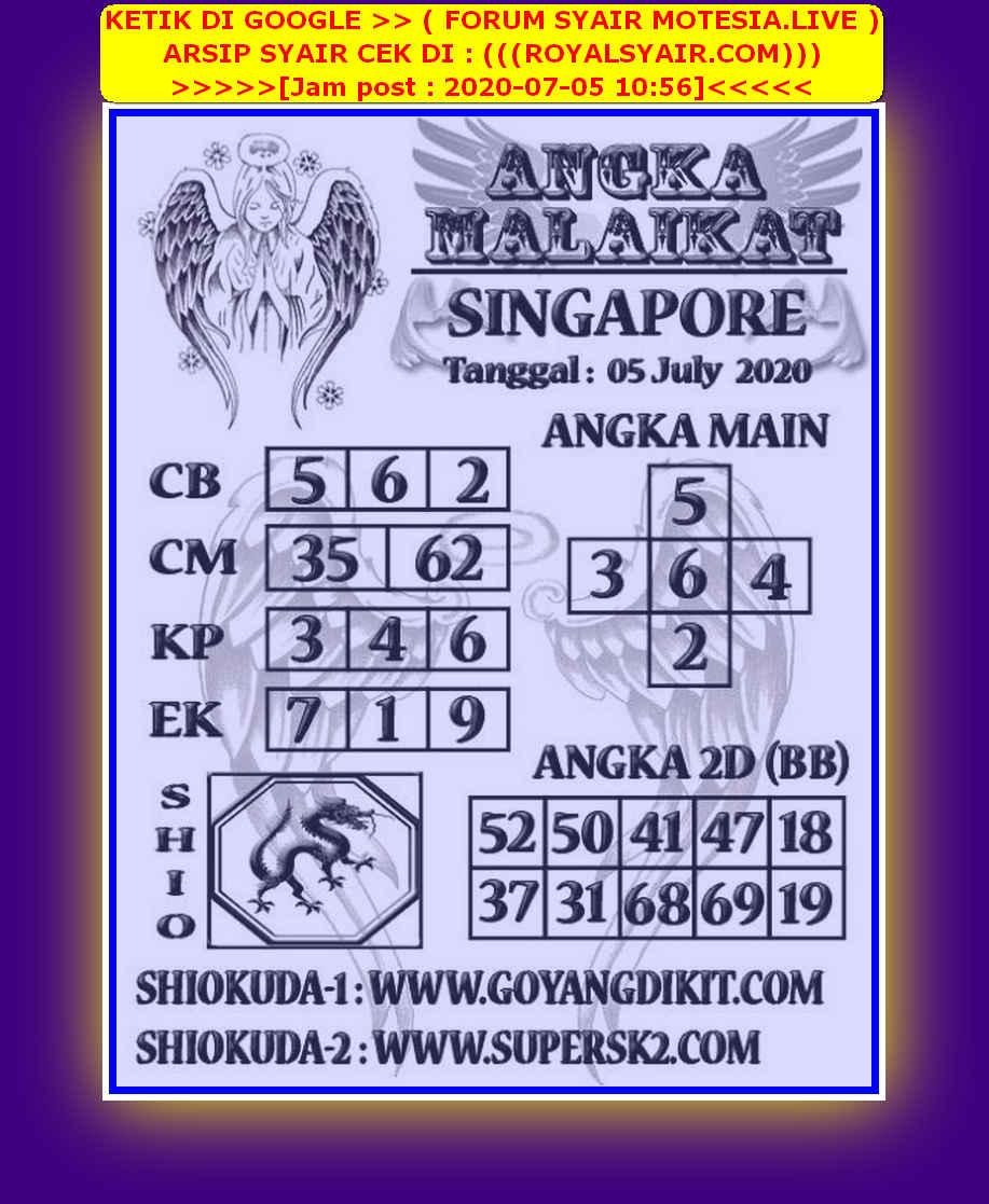Kode syair Singapore Minggu 5 Juli 2020 79