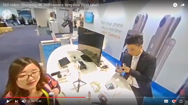 Shuoying has new 360 cameras: a 4k camera and a clone of the