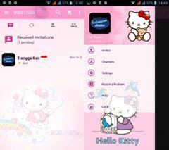 BBM Mod Hello Kitty Apk Mjenis 2.12.0.11 Clone 2016 Terbaru