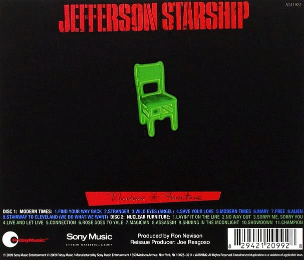 JEFFERSON STARSHIP - Modern Times / Nuckear Furniture [Friday Music Deluxe Edition remastered] back