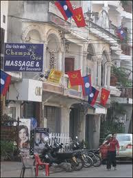 salah satu sudut kota di laos