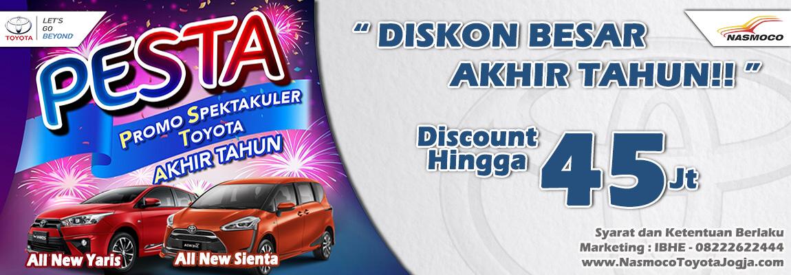 Promo Akhir Tahun Diskon Mobil Toyota 45Juta  Bantul, Gunung Kidul, Sleman, Kulon Progo, Yogyakarta Kota, Klaten, Magelang, dan Wilayah lain di Jawa Tengah.
