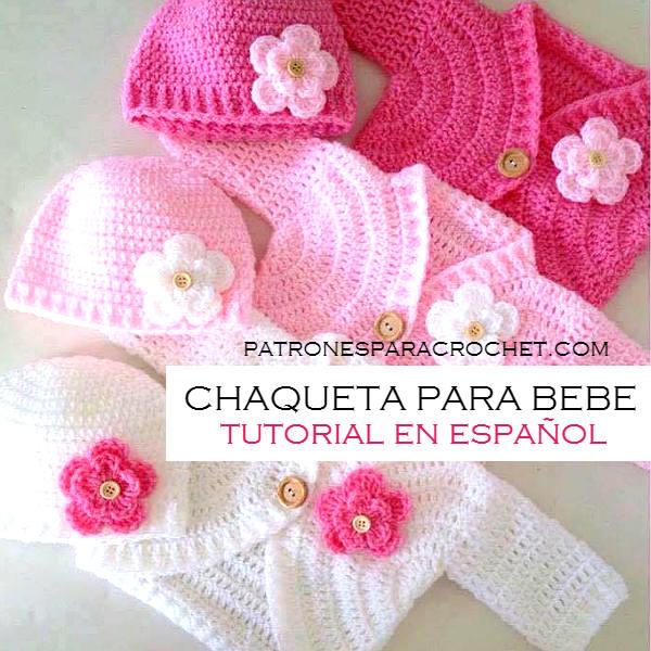 Chaqueta Para Bebé Al Crochet Video Tutorial