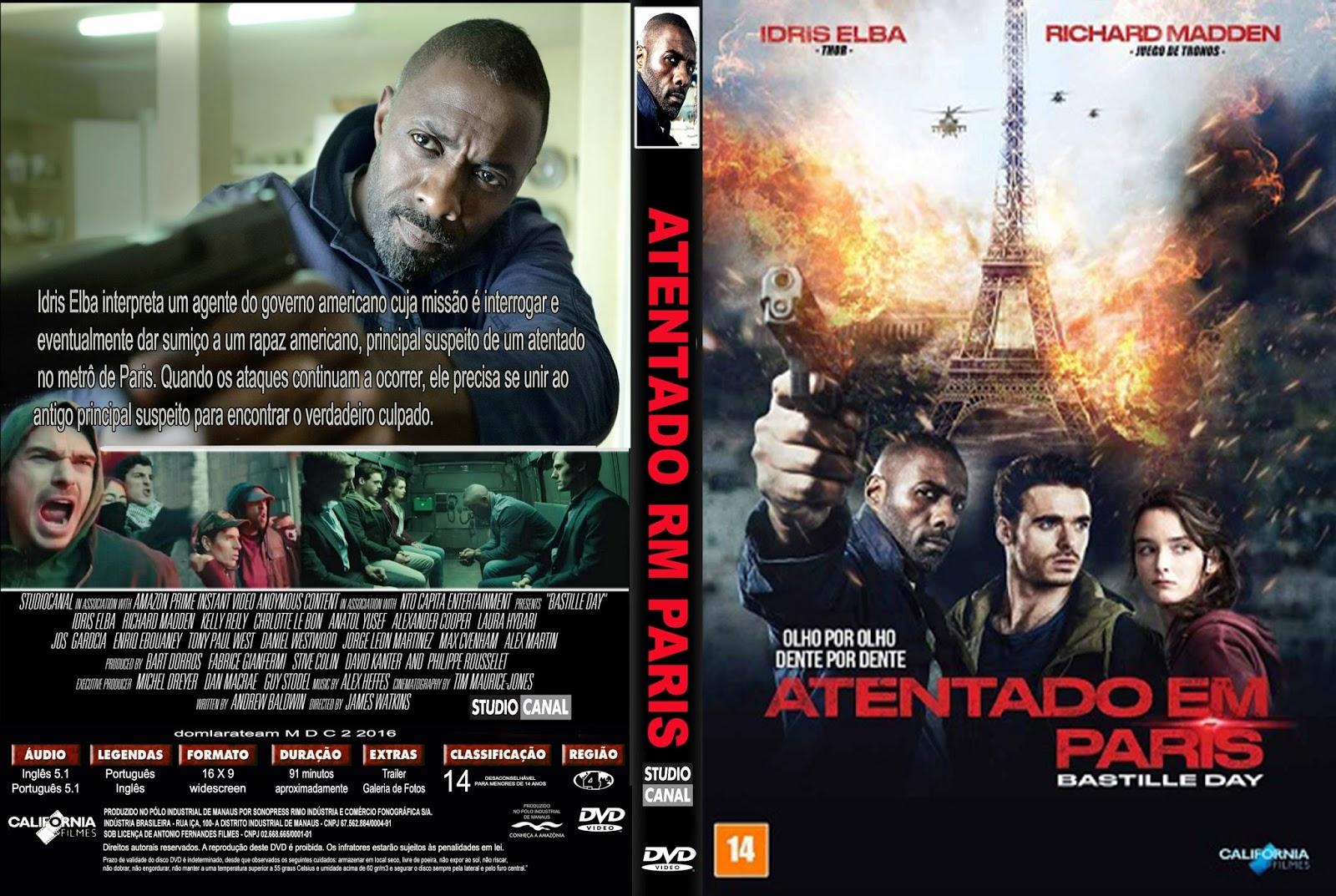 Atentado em Paris Atentado em Paris Atentado em Paris   Capa Filme DVD