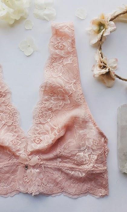 Adoreme - Pretty lacy bra in delicate pink