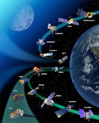 NASA có hàng tá các vệ tinh để nghiên cứu đại dương, khí quyển, mặt đất. Ảnh: NASA