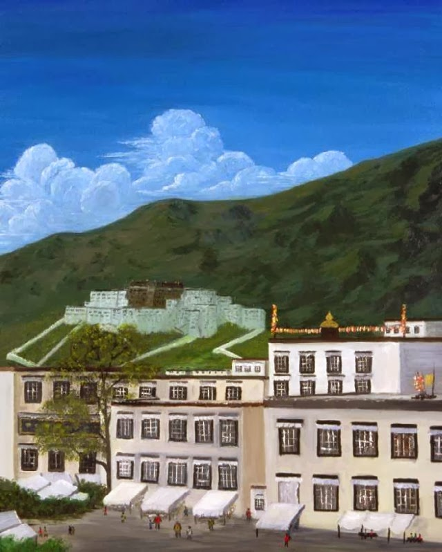 Тибетские пейзажи. Tenzin Tamding
