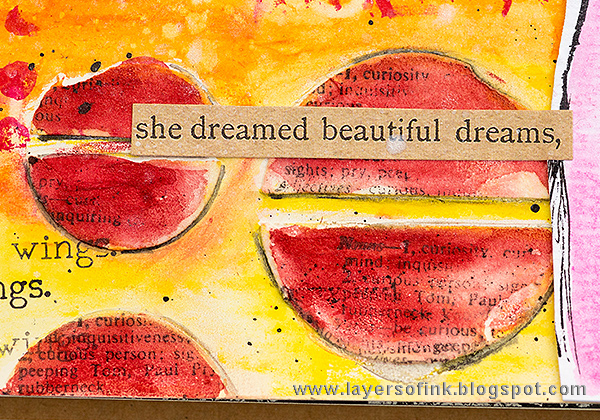 Layers of ink - Take Chances Journal Page Tutorial by Anna-Karin with stamps and stencils by Dina Wakley and Ranger