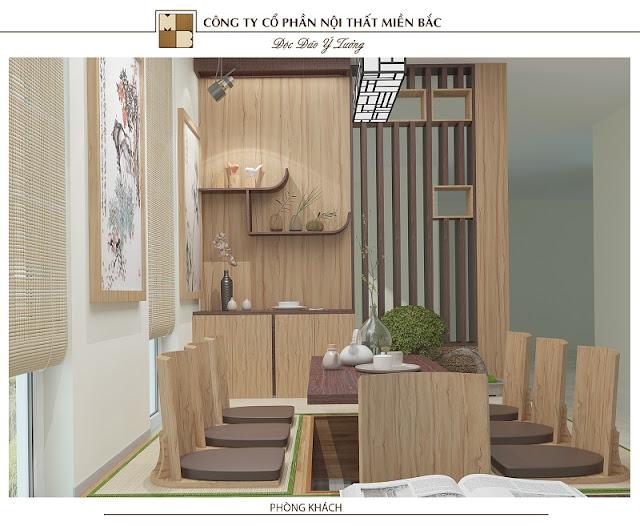 Thiết kế nội thất nhà kiểu Nhật sử dụng những gam màu trầm