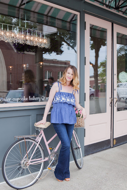 Trendy Clothing Refashion Maxi Skirt to Peasant Top