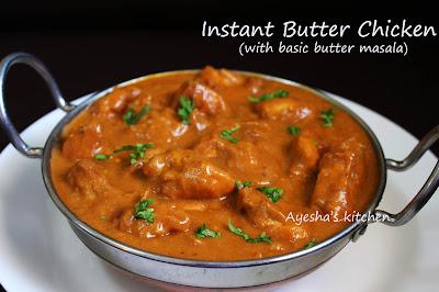 butter chicken recipe basic butter masala murgh makhani ayeshas kitchen chicken recipes kerala chicken gravy indian