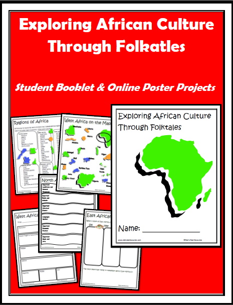 10 Tips to making projects easier for elementary students and lower level students - classroom suggestions from a seasoned teacher at Raki's Rad Resources. african folktales online poster project