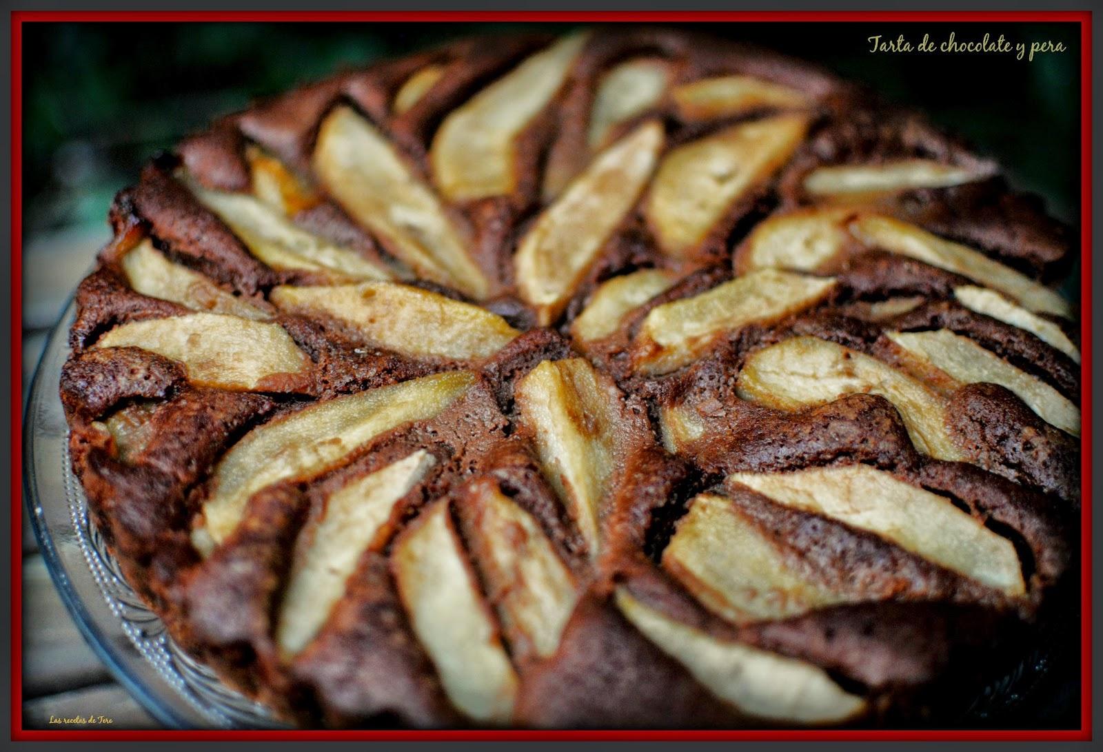 tarta de chocolate y pera tererecetas 02
