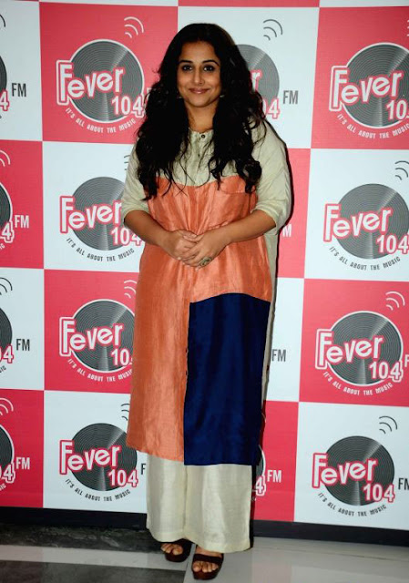 Vidya Balan in Blocked Kurta Paired with Palazzo Pants by Ezra