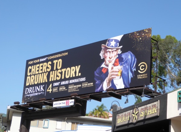 Drunk History Uncle Sam 2017 Emmy nominations billboard