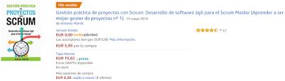 Libro Gestión práctica de proyectos con Scrum bestseller en Amazon