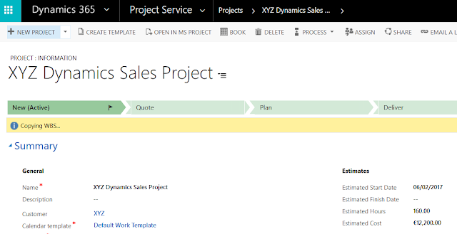 Project Service Automation -  Project Templates Joe Gill Dynamics 365 Consultant